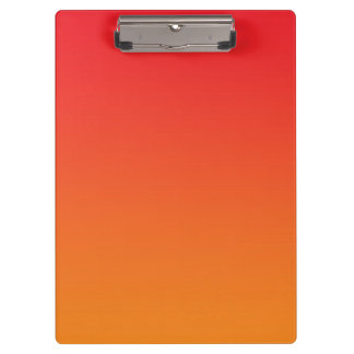 """Red And Orange Ombre"" Clipboard"