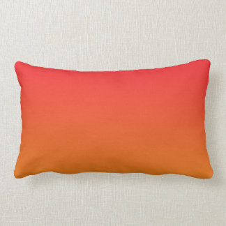 """Red And Orange Ombre"" Cushion"