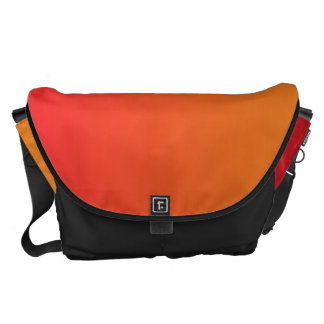 Red And Orange Ombre Large Commuter Bag
