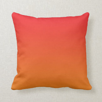 """Red And Orange Ombre"" Throw Cushions"
