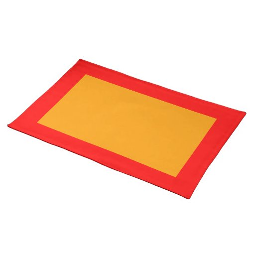 Red and Orange Placemat