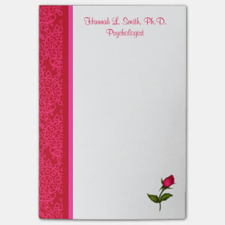 Red and Pink Damask Swirls Rose Post-It Notes Post-it® Notes
