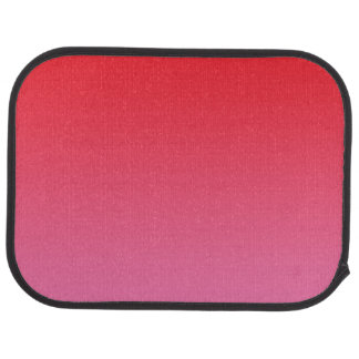 """Red And Pink Ombre"" Car Mat"