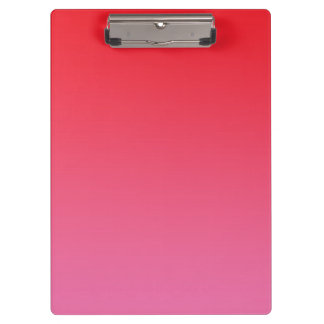 """Red And Pink Ombre"" Clipboards"
