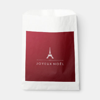 Red and Silver French Christmas Eiffel Tower Favour Bags