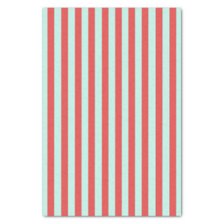 Red and Turquoise Stripes Tissue Paper
