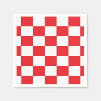 Red and White Chequered Paper Napkins