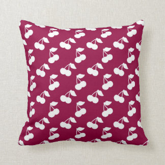 Red and White Cherry Print Cushions