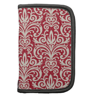 Red and White Damask Planner Sleeve