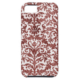 Red and White Damask Wallpaper Pattern iPhone 5 Case