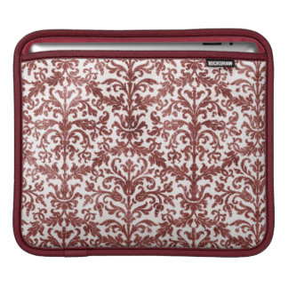 Red and White Damask Wallpaper Pattern iPad Sleeves