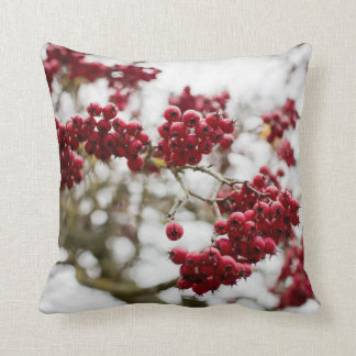 Red and White Floral Fall Decorative Pretty Pillow