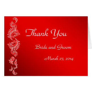 Red and White pattern Card