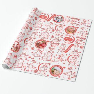 Red and white pattern for Christmas Wrapping Paper
