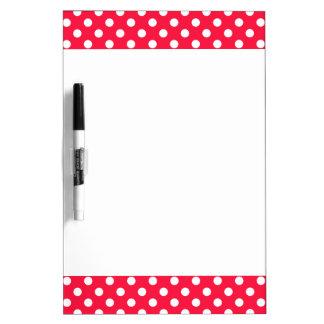 Red and white polka dots whiteboard Dry-Erase whiteboard