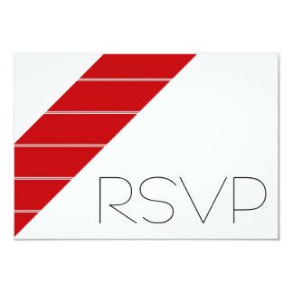 Red and white Stripe RSVP 9 Cm X 13 Cm Invitation Card