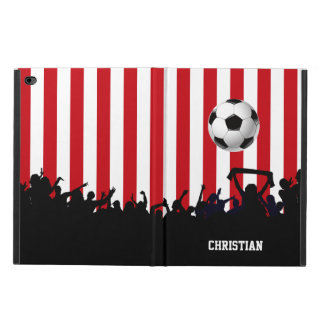 Red and White stripes Soccer Fans and football Powis iPad Air 2 Case