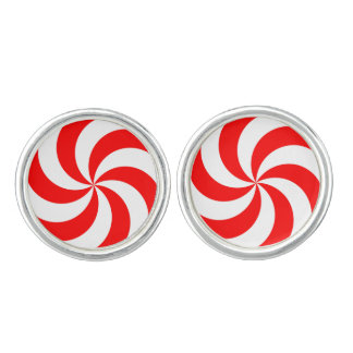 RED AND WHITE SWIRL Cufflinks