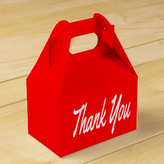 Red And White Thank You Wedding / Party Favor Wedding Favour Boxes