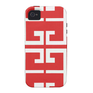 Red and White Tile iPhone 4/4S Case