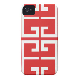 Red and White Tile iPhone 4 Cover