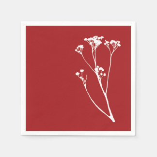 Red and White Tree Paper Napkins