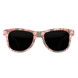 Red and White Tulips Sunglasses