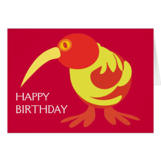 Red and Yellow Kiwi Card