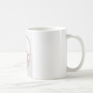 Red apples in basket coffee mug