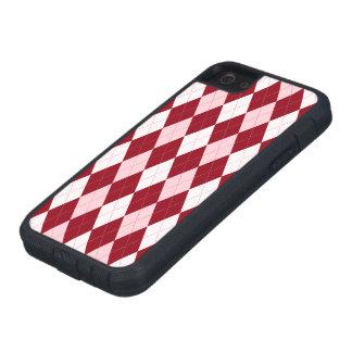 Red Argyle Crimson Pink Small Diamond Shape iPhone 5 Case