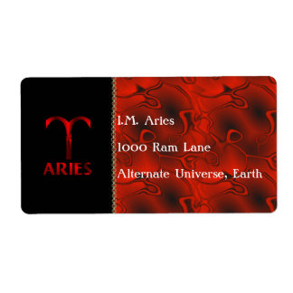 Red Aries Horoscope Symbol