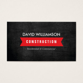 RED BANNER CONSTRUCTION, BUILDER, ARCHITECT LOGO