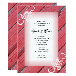 Red Barn Wood Country Post Wedding Brunch Invite