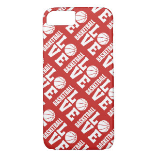 Red Basketball Love Pattern iPhone 8/7 Case
