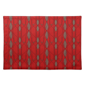 Red & Beige Funky Pattern Placemat