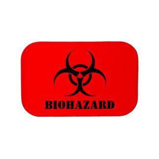 Red BIOHAZARD Warning Label Halloween Props Lunch Box