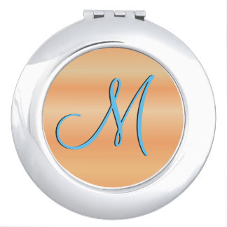 Red Birch 3d Monogram Initial Compact Mirrors