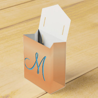 Red Birch 3d Monogram Initial Wedding Favour Box