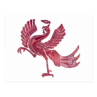 Red Bird red glass Post Cards