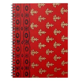 Red Black and Gold Design Photo Notebook