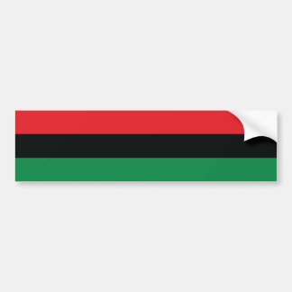 Red, Black and Green Flag Bumper Sticker