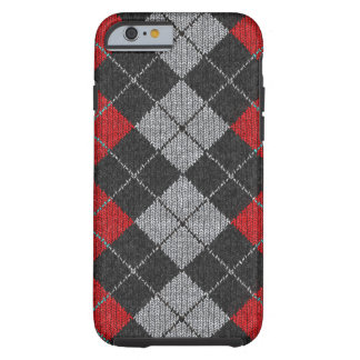 Red & Black Comfy Argyle Look iPhone 6 case