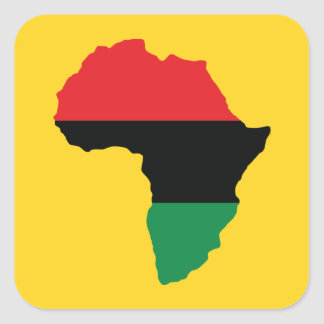 Red, Black & Green Africa Flag Square Sticker