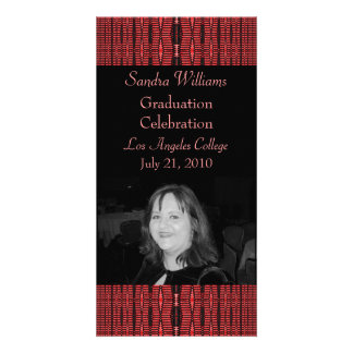 red black pattern graduation picture card