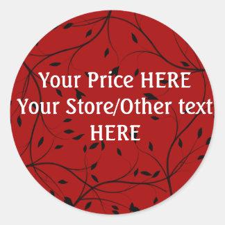 Red/Black Price Sticker  CUSTOMIZABLE