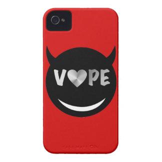 Red Black Vape Heart Rebel iPhone 4 Cases