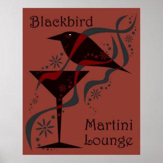 Red Blackbird Martini Lounge Poster