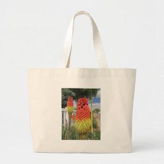 Red Bloom Large Tote Bag