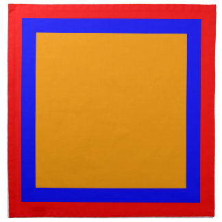 Red Blue and Orange Napkins