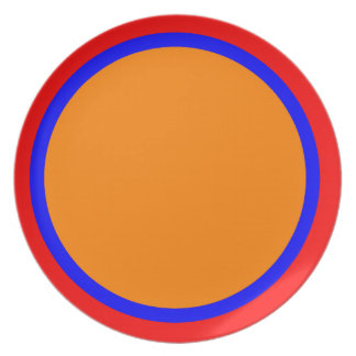 Red Blue and Orange Plate